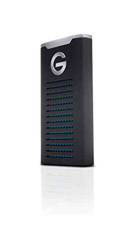 G-Technology 500GB G-DRIVE mobile SSD Durable Portable External Storage - USB-C (USB 3.1), Up to 560 MB/s - 0G06052-1