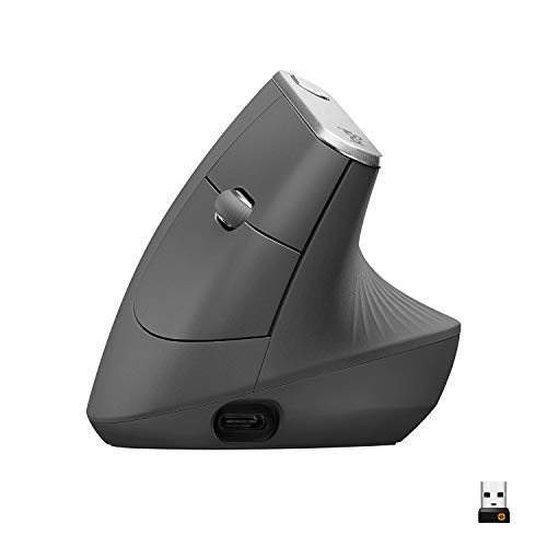 Best Vertical Mouse Overall: Logitech MX Vertical Wireless Mouse