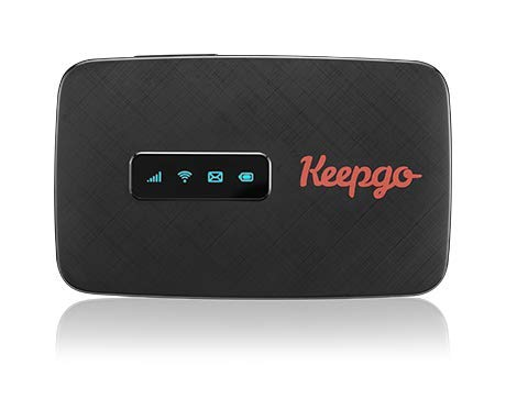 Keepgo Global Lifetime 4G/LTE Mobile WiFi Hotspot for Europe, Asia & The Americas + 1GB Credit