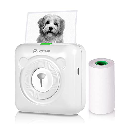Aibecy Mini Photo Printer, Wireless Thermal Printer, BT Picture Printer, Mobile Printer, Pocket Printer, Received Printer with USB Cable, Supports Android iOS Smartphone Windows