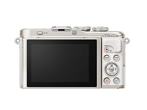 Olympus PEN E-PL10 White Camera Body with Silver M.Zuiko Digital 14-42mm F3.5-5.6 EZ Lens, Camera Case, Lens Cloth & SD Card