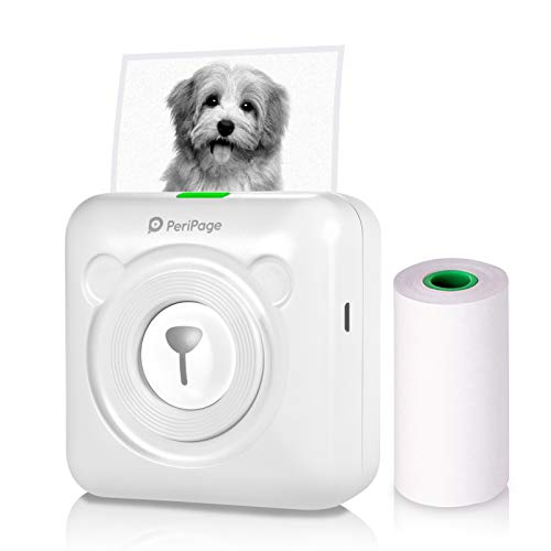 Aibecy Mini Photo Printer, Wireless Thermal Printer , BT Picture Printer, Mobile Printer, Pocket Printer, Received Printer with USB Cable, supports Android iOS Smartphone Windows