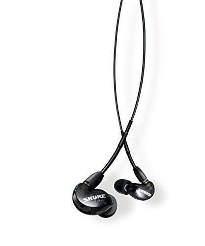 Shure SE215-K-UNI Sound Isolating Earphones with Inline Remote & Mic for iOS/Android,Black