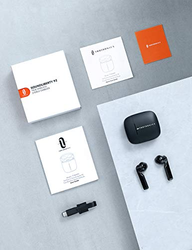 Wireless Earbuds, TaoTronics SoundLiberty 92 Bluetooth 5.0 Earbuds with Charging Case Hi-Fi Stereo TWS True Wireless Earbuds with Mic Smart Touch Control IPX8 30H Playtime Wireless Earphones