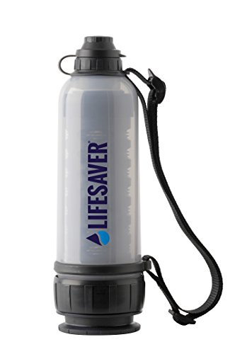 LIFESAVER Water Filtration Filter Bottle Purifier kit for Camping Emergency prep Backpacking Hiking Outdoor System Travel Virus Bacteria & Cyst Removal Bottle 6000UF