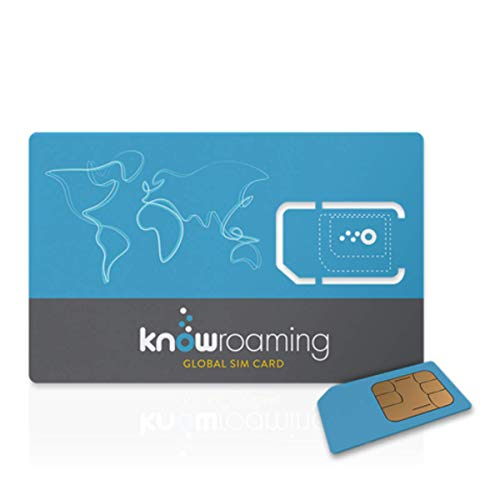 KnowRoaming Global SIM Card - Automatically Connect to Local Networks in 200+ Countries. Voice, Text and 4G LTE 3G Data Without The Roaming Fees - for iPhone, Android and Windows Mobile. Global SIM