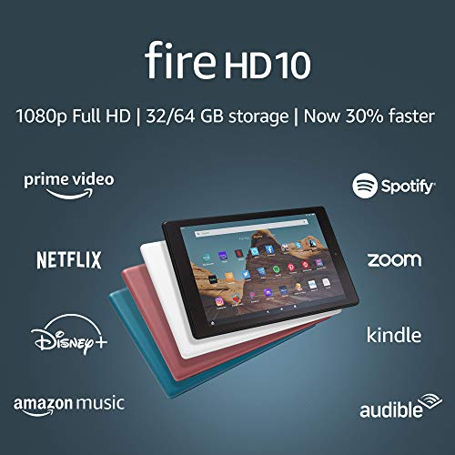 Fire HD 10 Tablet (10.1' 1080p full HD display, 32 GB) – Black
