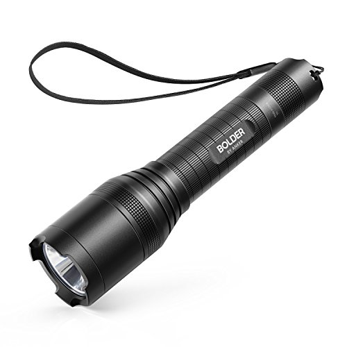 Anker Rechargeable Bolder LC90 LED Flashlight, Pocket-Sized Torch with Super Bright 900 Lumens CREE LED, IPX5 Water-Resistant, Zoomable, 5 Light Modes, 18650 Battery Included