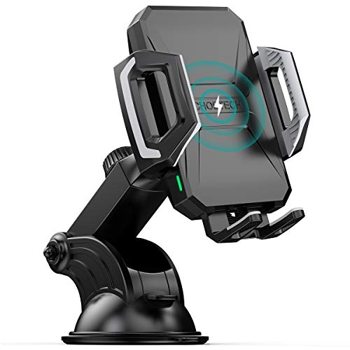 CHOETECH Wireless Car Charger, 10W/7.5W Qi Wireless Fast Charging Car Mount, USB-C Dashboard Phone Holder Compatible with iPhone 12/12 Pro Max/12 Mini/11 Pro Max/X/SE, Galaxy S20/S10/Note20/Note10