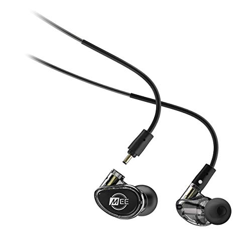MEE Professional MX2 PRO Customizable Noise-Isolating Universal-Fit Modular Musician's in-Ear Monitors (Smoke)