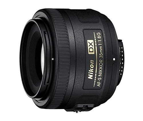 Nikon AF-S DX NIKKOR 35mm f/1.8G Lens with Auto Focus for Nikon DSLR Cameras,2183,Black