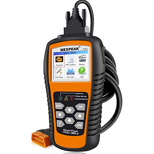 NEXPEAK OBD2 Scanner, NX501 Enhanced OBD II Auto Code Reader, Car Diagnostic Scan Tool Vehicle Check Engine Light Analyzer for All OBDII Vehicles After 1996
