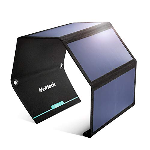 Best Portable Solar Charger for Hiking: NekTeck 28W Foldable Portable Solar Charger