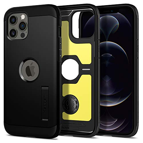 Spigen Tough Armor Designed for iPhone 12 Pro Max Case (2020) - Black