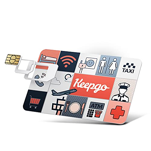 Keepgo Lifetime Prepaid Data Sim Card + 1GB Credit - 2G/3G/4G LTE - Data Valid for Life - 100+ Countries - Unlocked GSM Devices - 3-in-1 SIM Kit