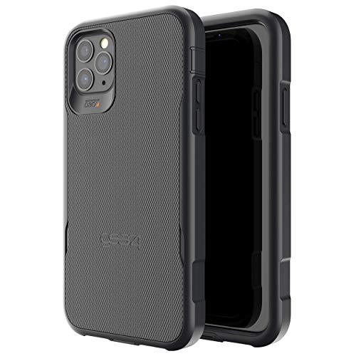 Gear4 Platoon Compatible with iPhone 11 Pro Max Case, Advanced Impact Protection with Integrated D3O Technology Phone Cover - Black