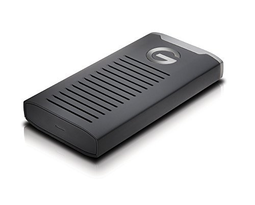 G-Technology 500GB G-DRIVE Mobile SSD Durable Portable External Storage - USB-C (USB 3.1), Up to 560 MB/s - 0G06052