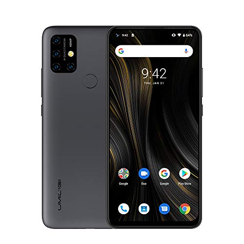 UMIDIGI Power 3 6150mAh Monster Battery Unlock Cell Phone, 48MP Ultra Wide Macro Quad Camera, 6.53' FHD+ Android 10 Mobile 4G+64GB Phone 2 + 1 Card Slots, 18W Fast Charging(Support Reverse),Grey