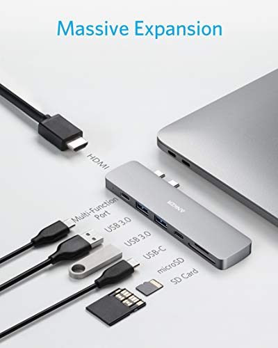 Anker USB C Hub for MacBook, PowerExpand Direct 7-in-2 USB C Adapter Compatible with Thunderbolt 3 USB C Port, 100W Power Delivery, 4K HDMI, USB C and 2 USB A Data Ports, SD and microSD Card Reader