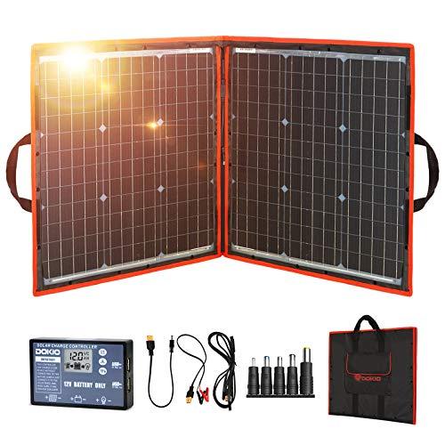 Best Portable Solar Charger for RVs: DOKIO Folding Solar Panel Kit