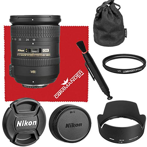 Nikon AF-S DX NIKKOR 18-200mm f/3.5-5.6G ED VR II Lens Bundled Accessory Kit (White Box)