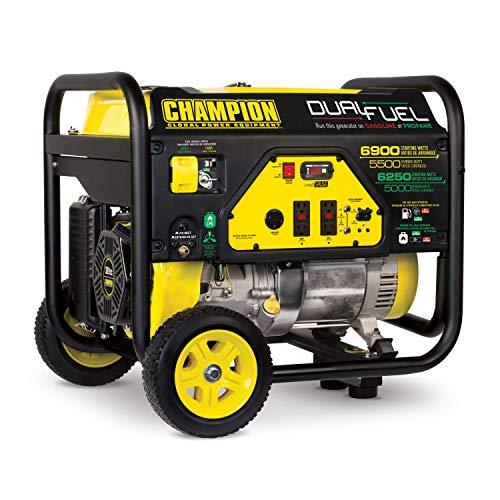 Best Portable Dual Fuel Generator: Champion 5500-Watt Dual Fuel Portable Generator