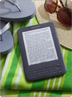 Kindle on towel