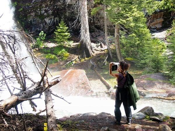iPad photographer at Glacier NP