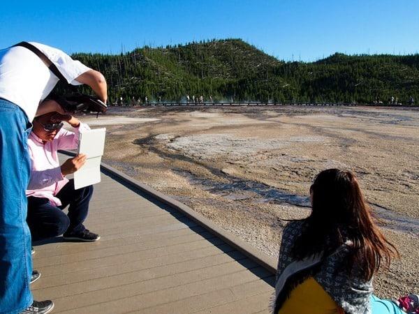 Ipad photographer at Yellowstone