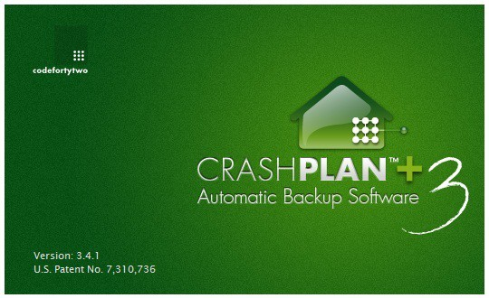 Crashplan splash