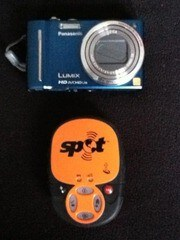 Photo of his camera and SPOT tracking device courtesy of Mark Garscadden
