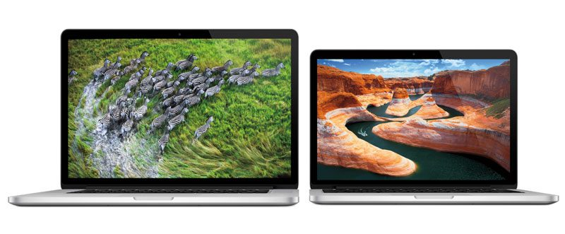 Pic of both the 15 inch and 13 inch MacBook Retina