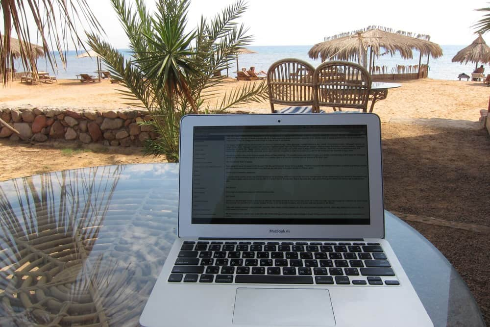 A photo of the MacBook Air in Egypt