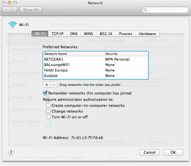 Changing DNS server settings screenshot mac