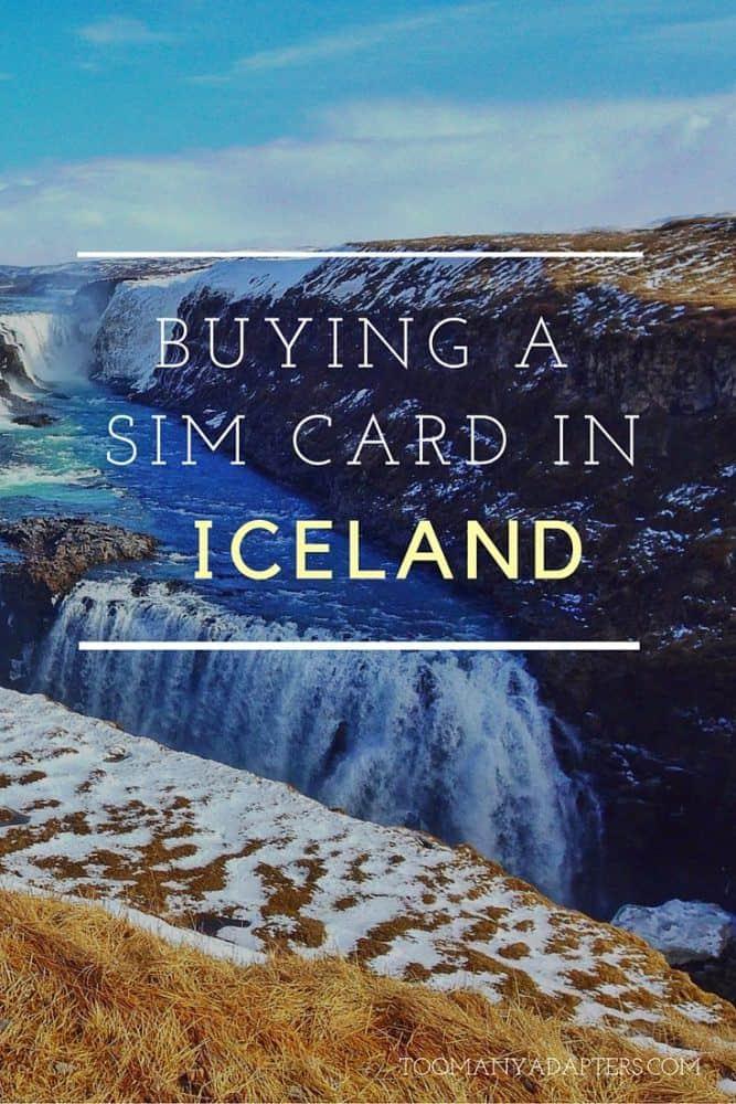 Buying a SIM card in Iceland