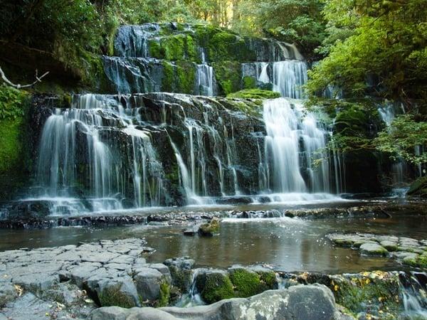 Waterfall in New Zealand