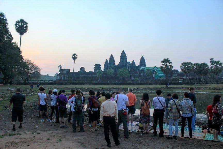 People at Angkor Wat