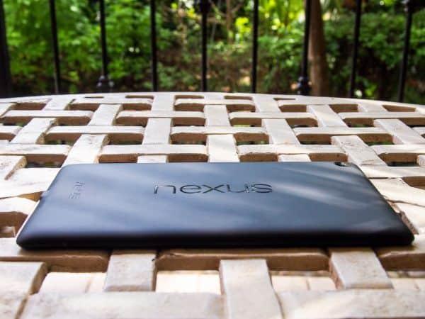Nexus 7 face-down on table