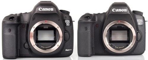 Canon 5dmk3 next to EOS 6d