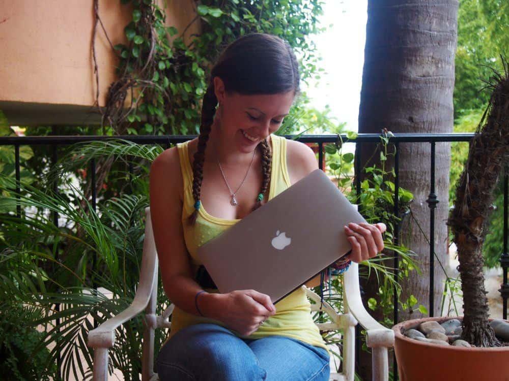 Lauren and Macbook Pro