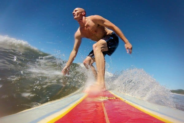 Surfing GoPro shot