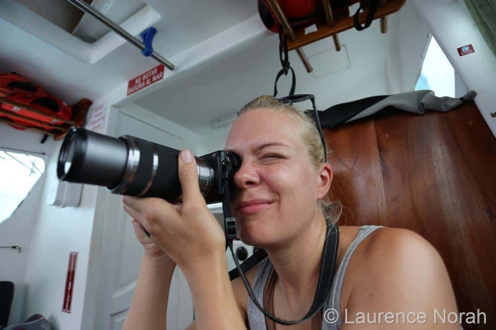 Girl with long lens