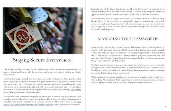 Screenshot -- Staying Safe chapter