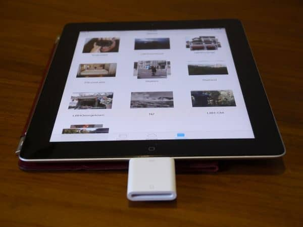 Camera iPad connection kit