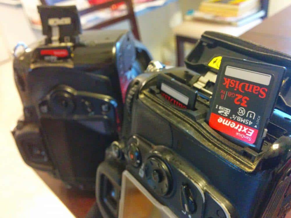 Camera and SD card