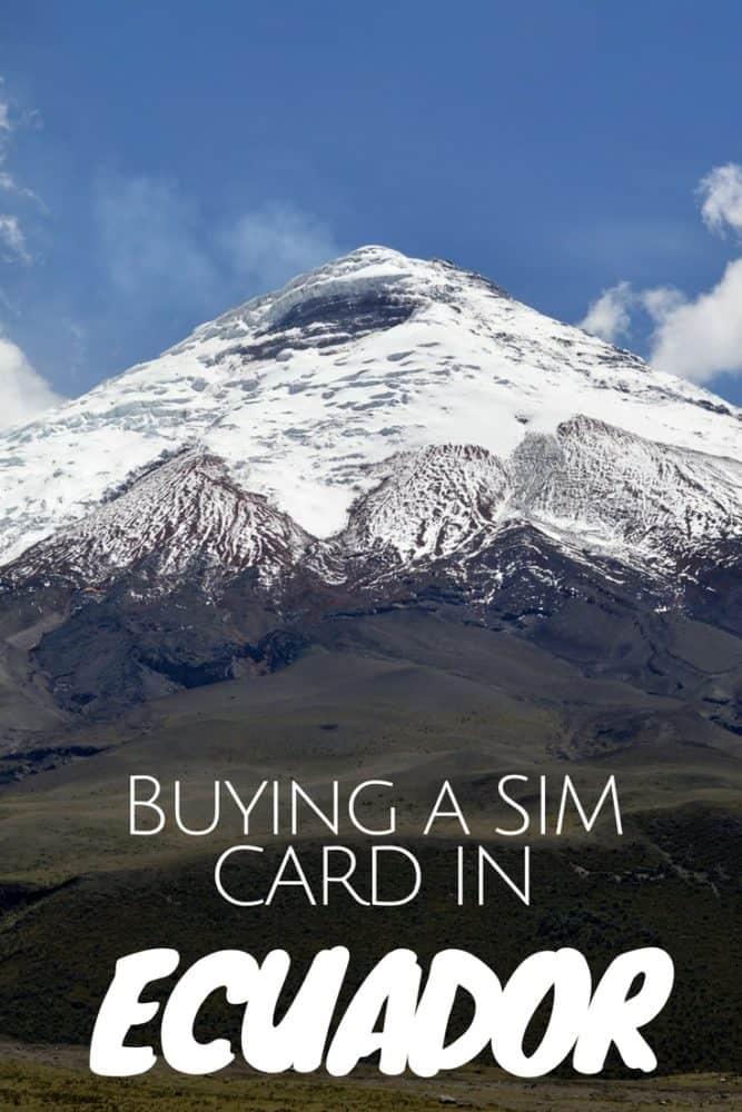 Buying a Local SIM card in Ecuador