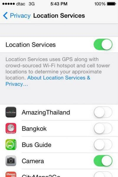 Location Services on iOS7