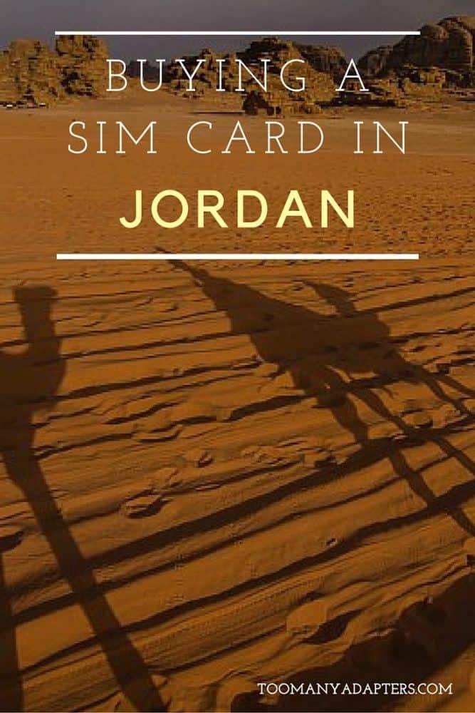 Buying a SIM card in Jordan