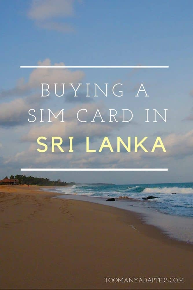 Everything you need to know about buying a SIM card in Sri Lanka