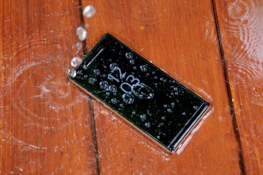 Wet phone